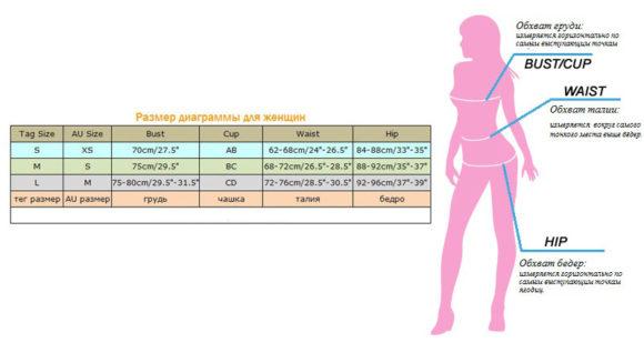 Размеры купальников на Алиэкспресс