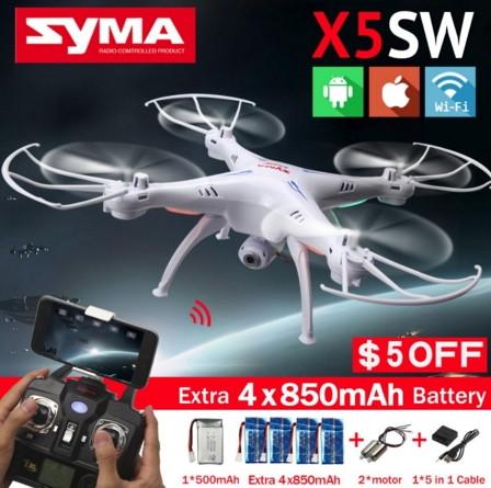 Квадрокоптер радиоуправляемый syma x5sw